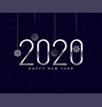 shiny silver 2020 new year background with vector image