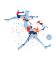 soccer player cutout for special sport game event vector image