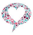 social media heart bubble vector image vector image