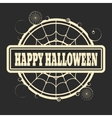 Stamp with Happy Halloween text vector image vector image