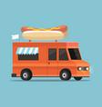 street food truck vector image vector image