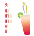 summer card with cocktail drink vector image vector image