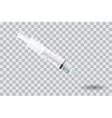Syringe with needle on transparent background vector image