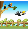 The three birds vector image vector image