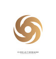 vortex logo design concept hurricane icon vector image