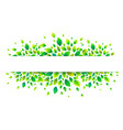 white paper stripe banner on green summer leaves vector image vector image