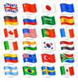 world top countries national flags vector image