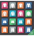 Set with mens Sportswear icons vector image