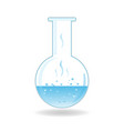 test tube isolated flask icon vector image