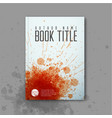 modern abstractbook cover template vector image