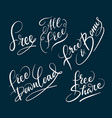 all free and bonus hand written typography vector image vector image