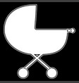 baby carriage the white color icon vector image vector image