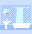 bathroom interior on flat design vector image vector image
