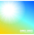 beautiful sunny sky background bright vector image