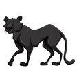Black panther with happy face vector image