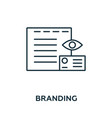 branding icon symbol creative sign from vector image