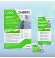 Bright green annual report vector image