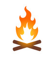 campfire or bonfire icon vector image