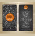 Chalk drawing pizza Set of banners vector image vector image
