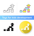 construction toy icon vector image