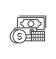 credit and debit linear icon sign symbol vector image