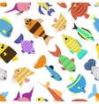Cute fish seamless pattern vector image vector image