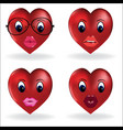 emoji heart smiley lip sexy creator design vector image