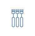 fork line icon concept fork flat symbol vector image vector image