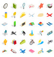 fun icons set isometric style vector image vector image