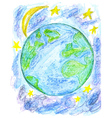 Hand Drawn Earth vector image vector image