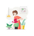 home plants care vector image