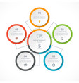 infographic circle with 5 options vector image vector image