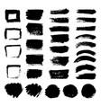 ink black art brushes set dirty grunge vector image vector image