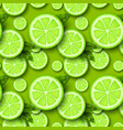 lime fruit seamless pattern vector image vector image