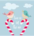 little birds in love vector image