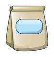 lunch paper bag icon cartoon style vector image