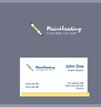 marker logo design with business card template vector image vector image