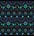 mexican folk art seamless geometric pattern vector image vector image