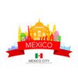 mexico travel landmarks vector image vector image