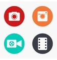 modern camera colorful icons set vector image vector image