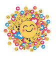 modern emoji design on white background vector image vector image
