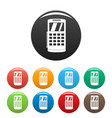 nfc terminal payment icons set color vector image