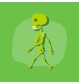 paper sticker on stylish background skeleton vector image