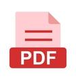 PDF File vector image vector image