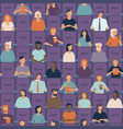 people watching movie in cinema hall vector image vector image