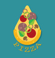 pizza slice icon flat vector image vector image