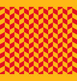 red and yellow herringbone check pattern vector image vector image