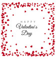 red paper hearts frame background design vector image vector image