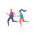 running people jogging icon vector image
