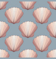 seashells seamless decorative background vector image vector image